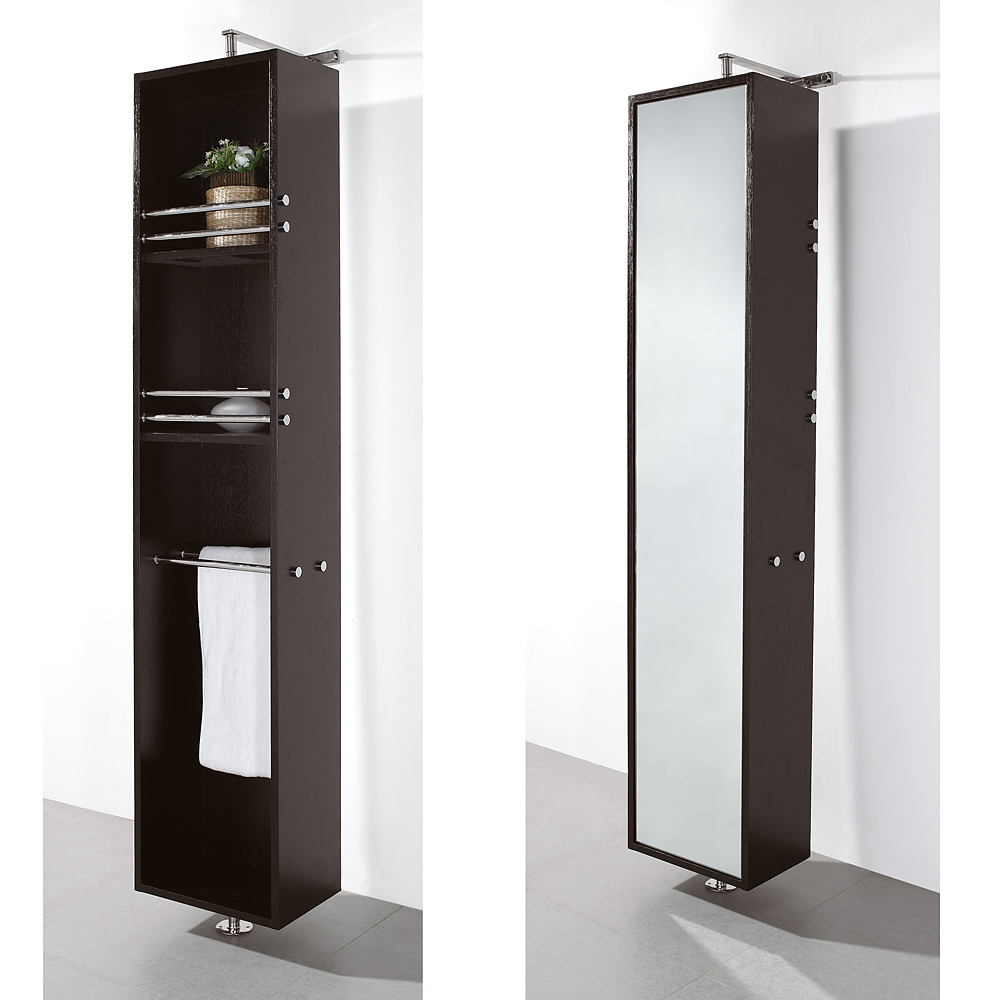 Claire Rotating Floor Cabinet With Mirror By Wyndham