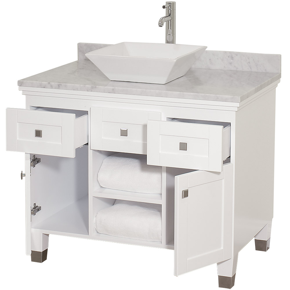 Premiere 36 Bathroom Vanity By Wyndham Collection White Free Shipping Modern