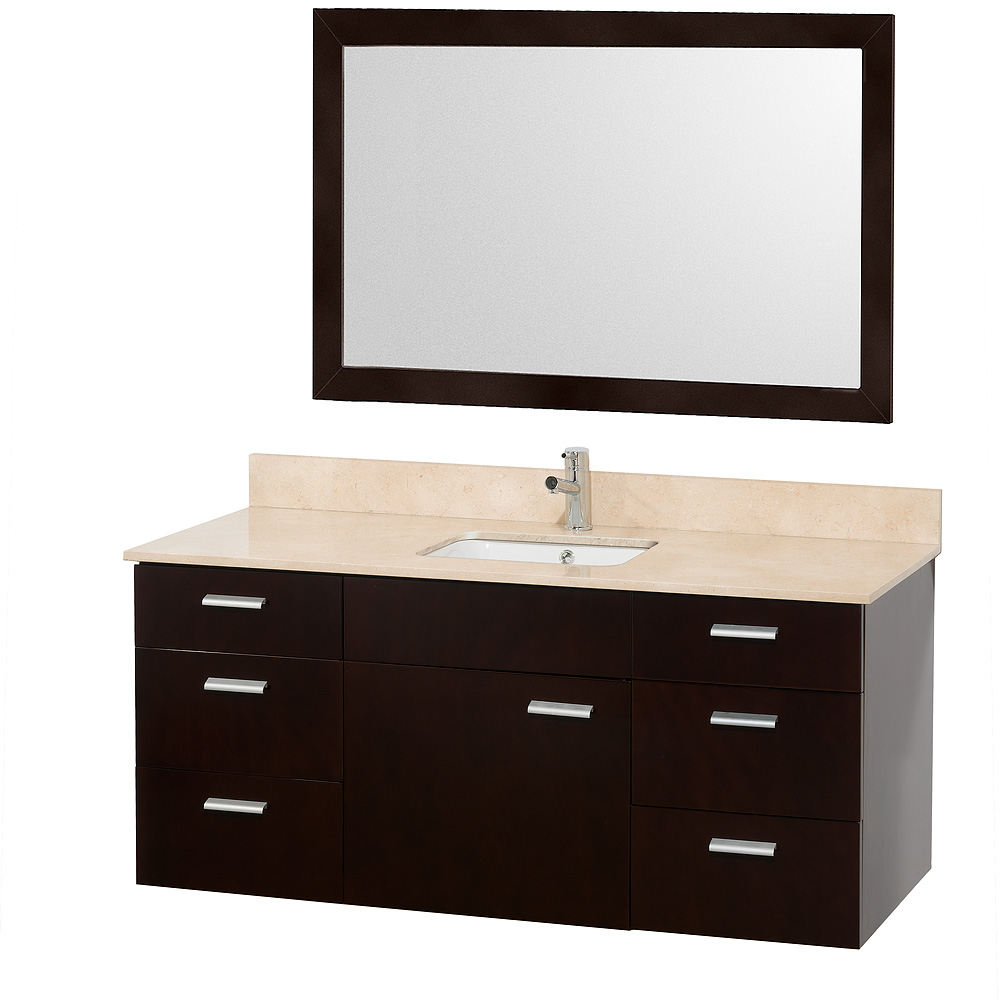 Encore 52 Single Bathroom Vanity Set By Wyndham Collection Espresso Free Shipping Modern Bathroom