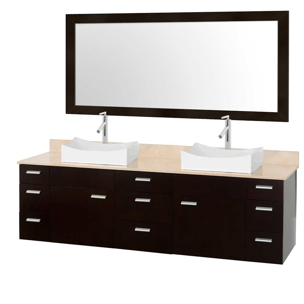 Vanity Counter Set : Encore quot double bathroom vanity set espresso with