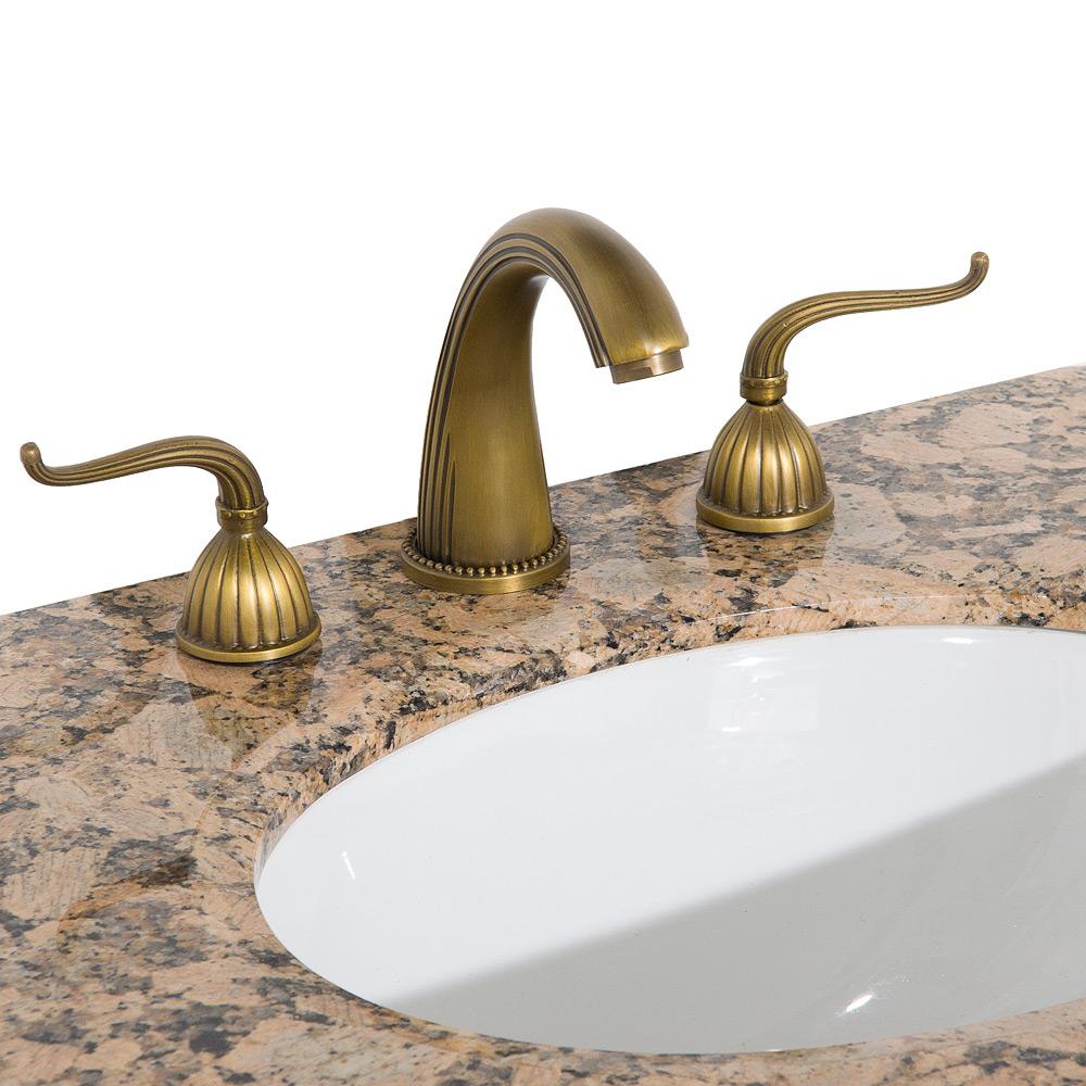 Heritage 1 widespread bathroom faucet antique brass - Antique brass faucets for bathroom ...