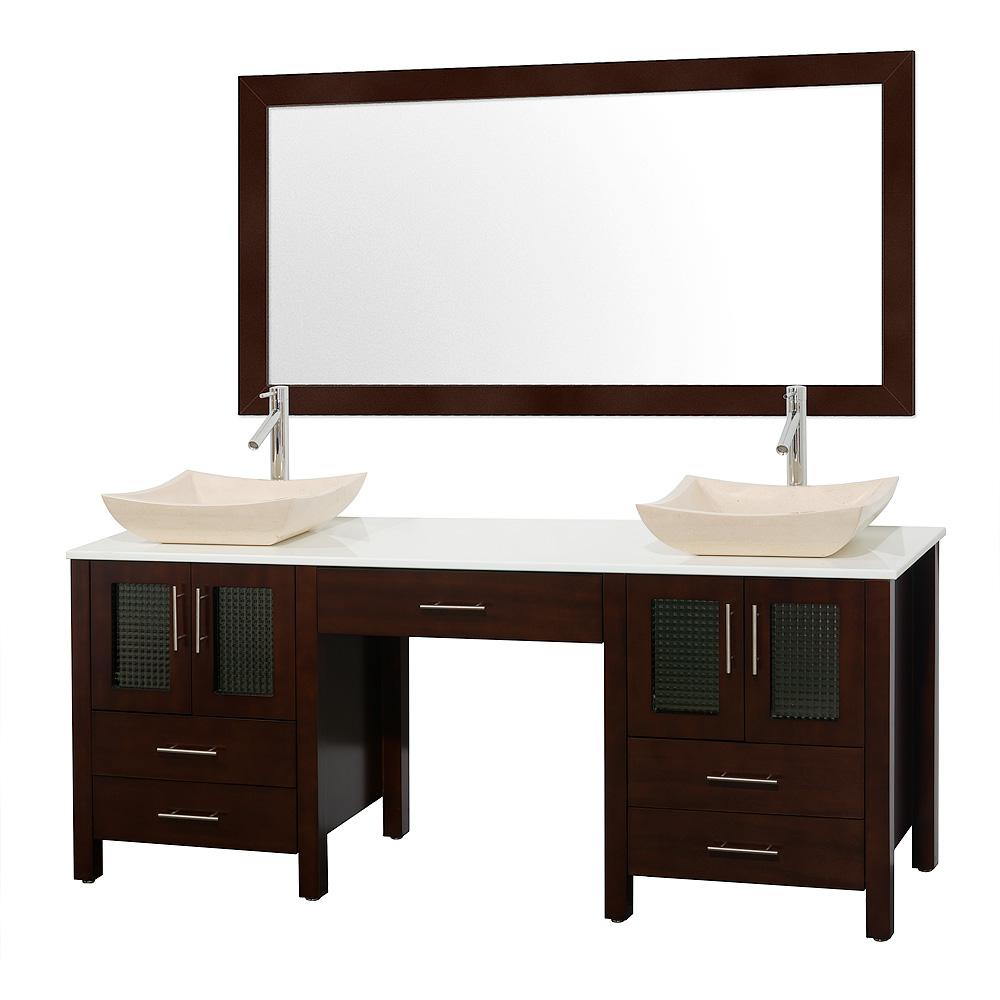 "All Modern Bathroom Vanity: Allandale 75"" Double Bathroom Vanity - Espresso"