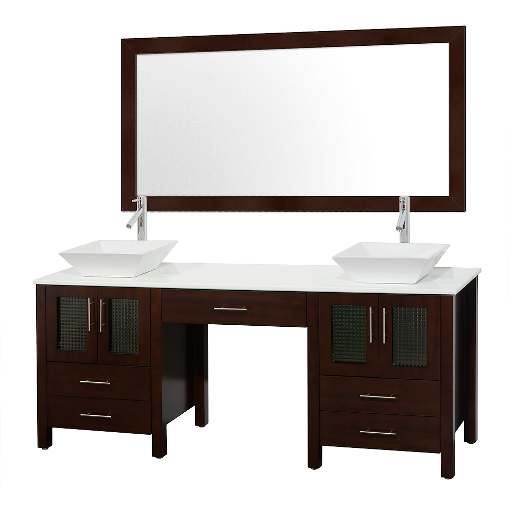 Allandale 75 Double Bathroom Vanity Espresso Free Shipping Modern Bathroom