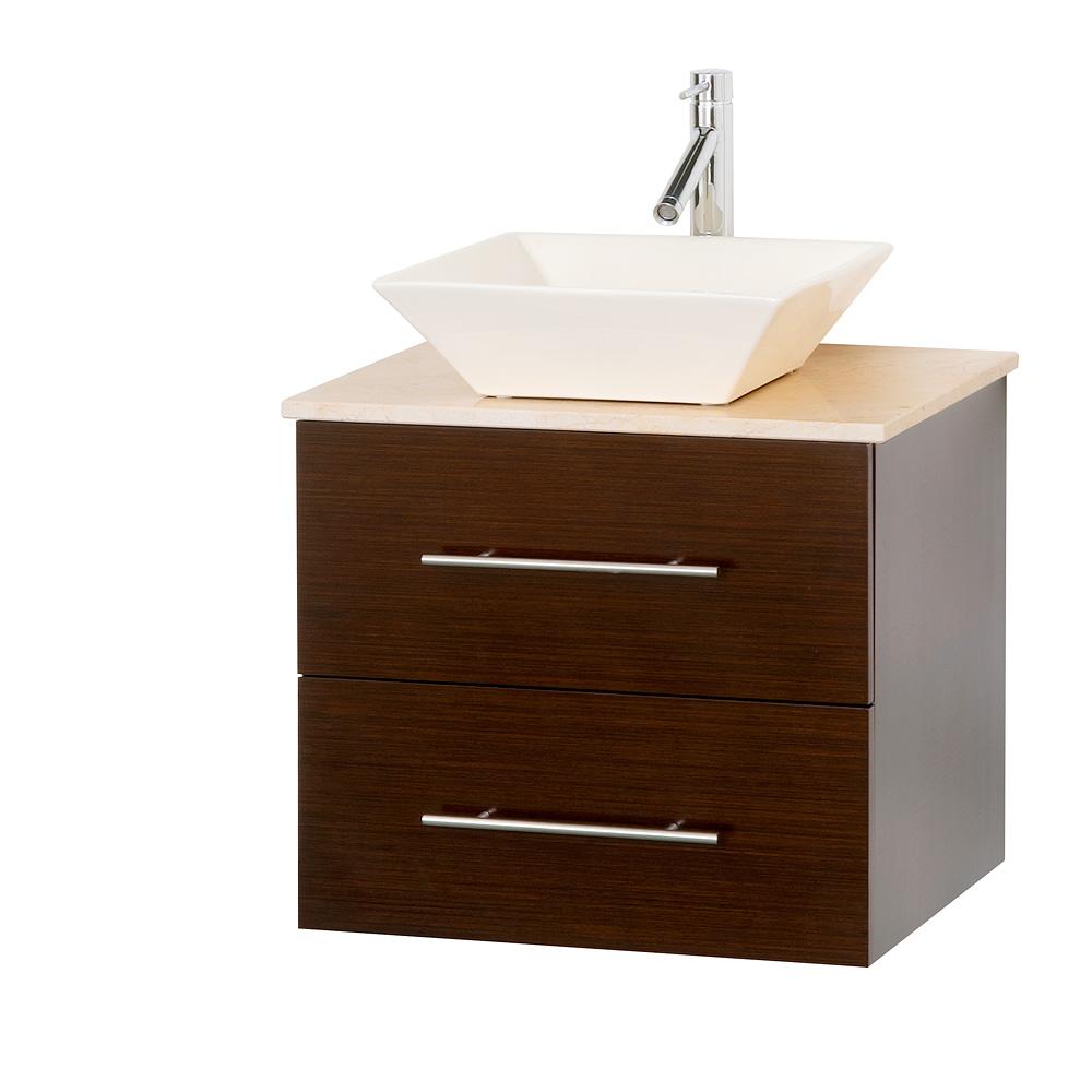 """bianca 24"""" wallmounted modern bathroom vanity  iron wood"""