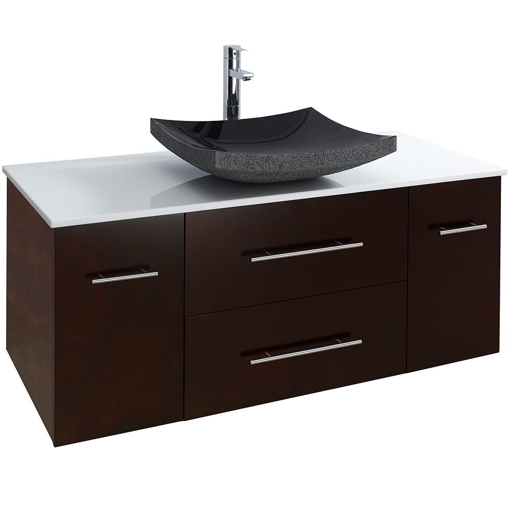 Bianca 48 Wall Mounted Modern Bathroom Vanity Espresso