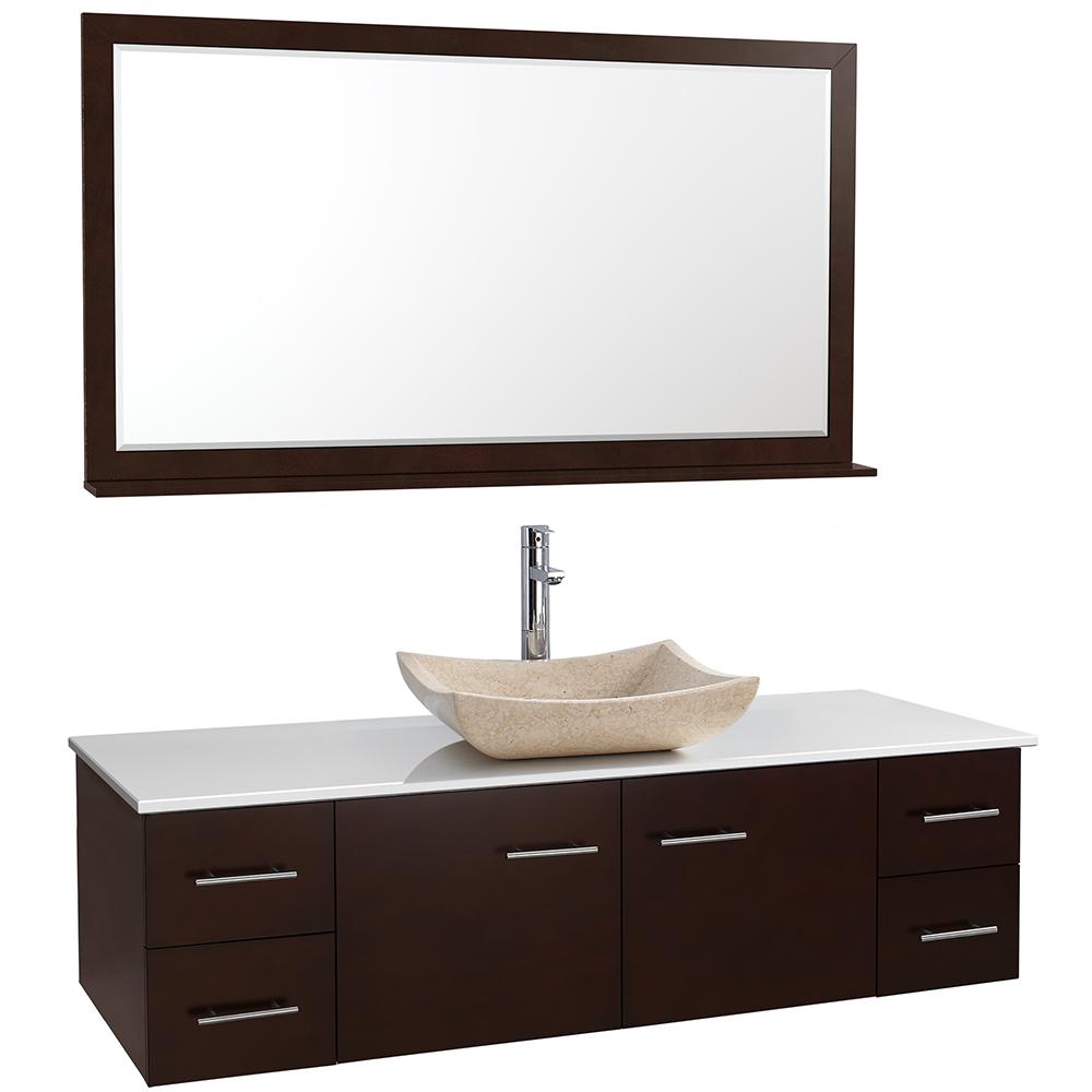 "Cutting Room Floor Esp Sse: Bianca 60"" Wall-Mounted Single Bathroom Vanity"