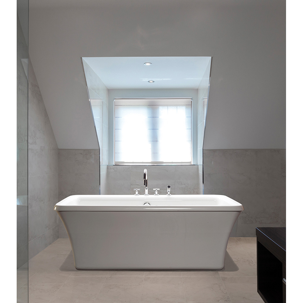 """MTI Basics Freestanding Bathtub, 65.5"""" x 35.75"""" x 22.5"""" MBRFSX6636 by MTI"""