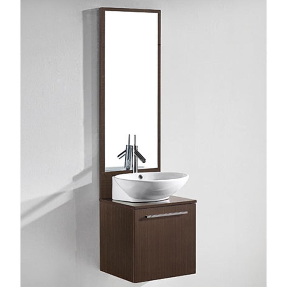 Madeli alassio 18 bathroom vanity walnut free - Contemporary bathroom sinks and vanities ...