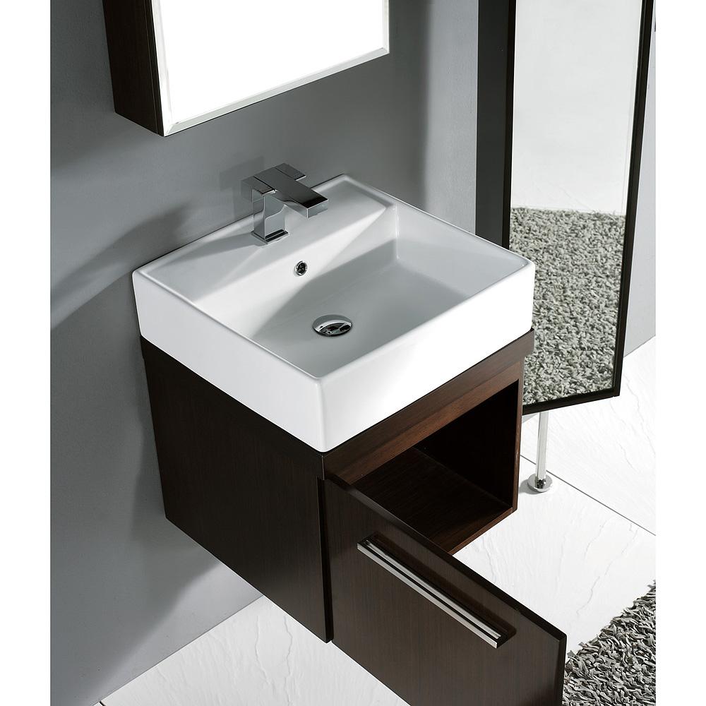 Madeli Arezzo 20 Quot Bathroom Vanity Walnut Free Shipping