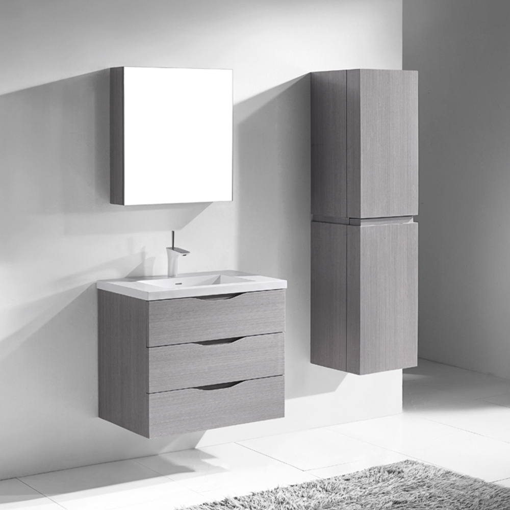 Madeli bolano 30 bathroom vanity ash grey old free for Modern white and grey bathroom