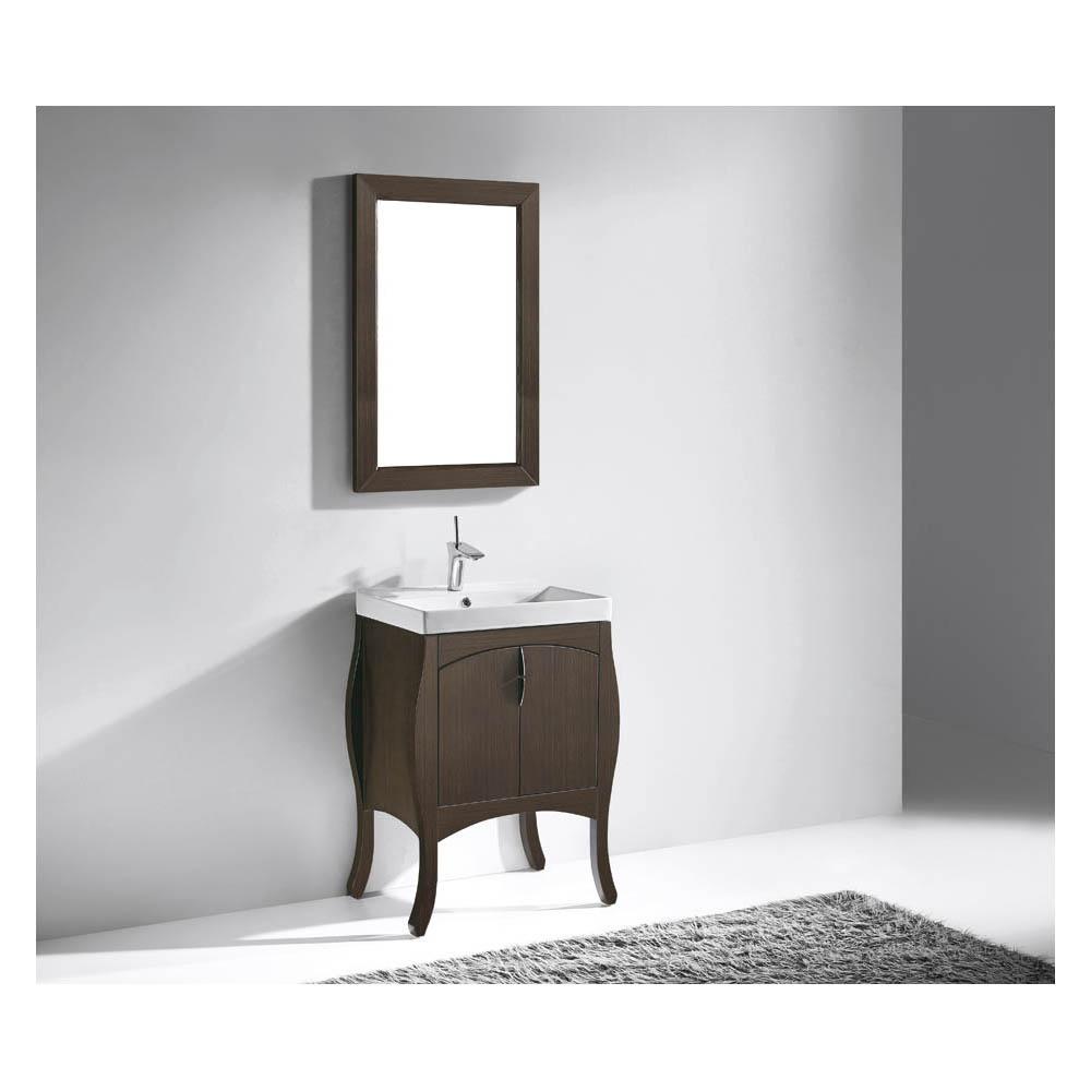 Madeli Sorrento 27 Bathroom Vanity For Integrated Basin Walnut Free Shipping Modern Bathroom