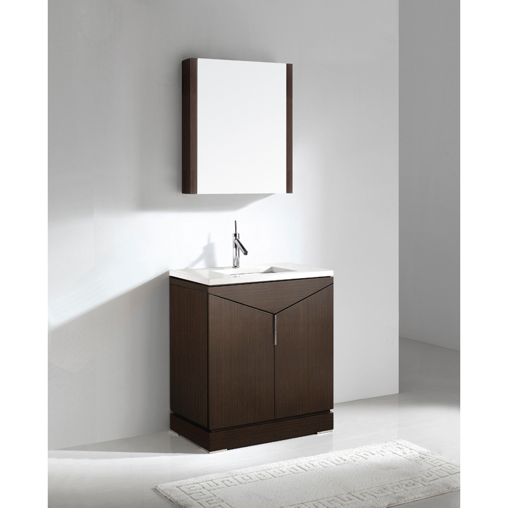 Madeli savona 30 bathroom vanity with quartzstone top for 30 modern bathroom vanity