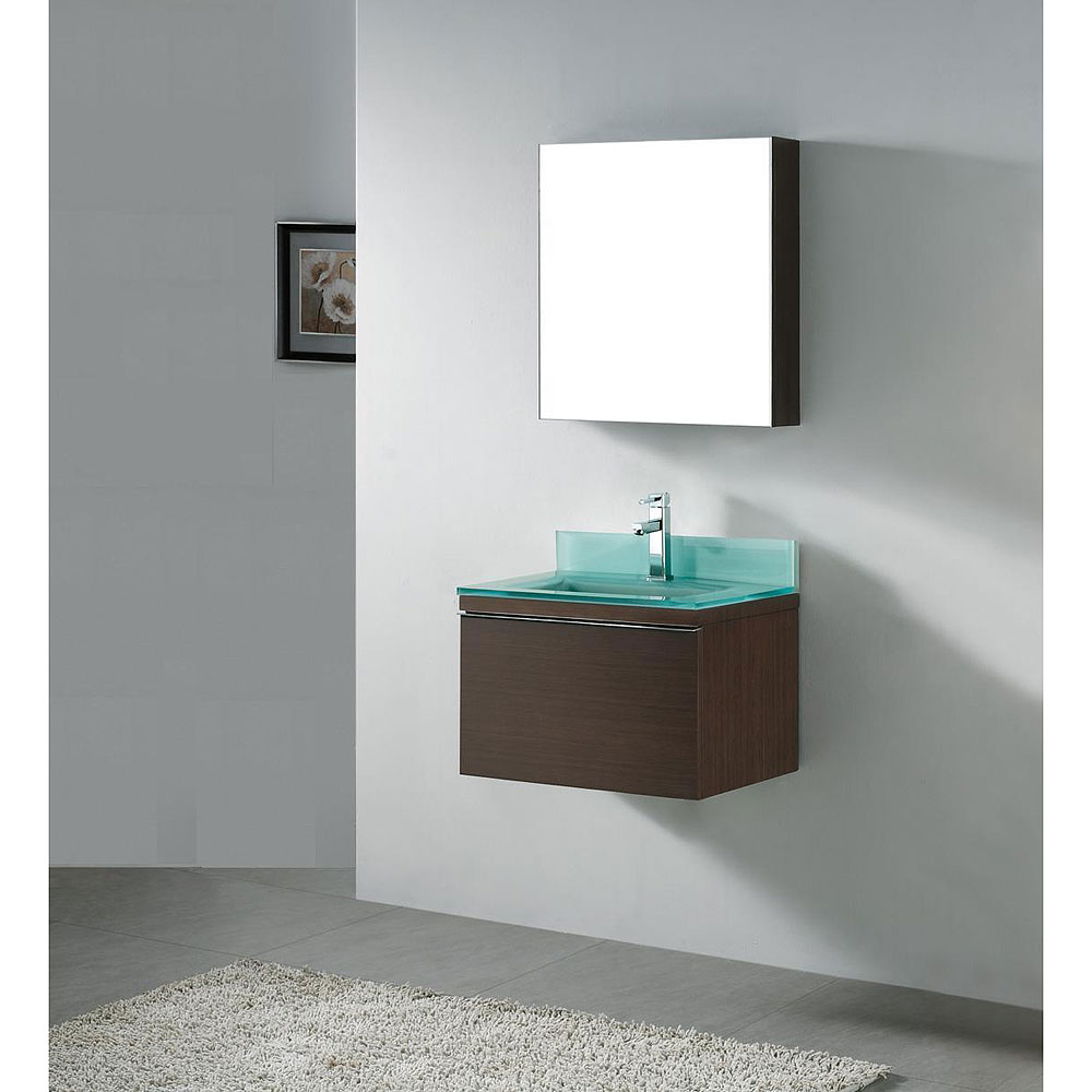 Madeli Venasca 24 Quot Bathroom Vanity With Glass Basin