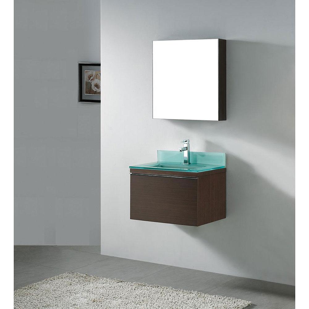 Madeli Venasca 24 Quot Bathroom Vanity With Glass Basin