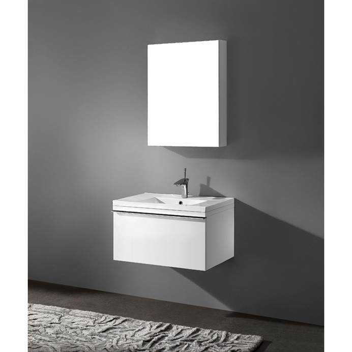 "Madeli Venasca 30"" Bathroom Vanity with Integrated Basin - Glossy White B990-30-002-GW"