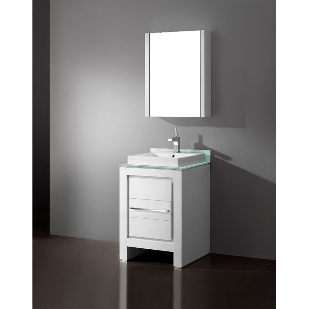 Madeli Vicenza 24 Quot Bathroom Vanity Glossy White Free