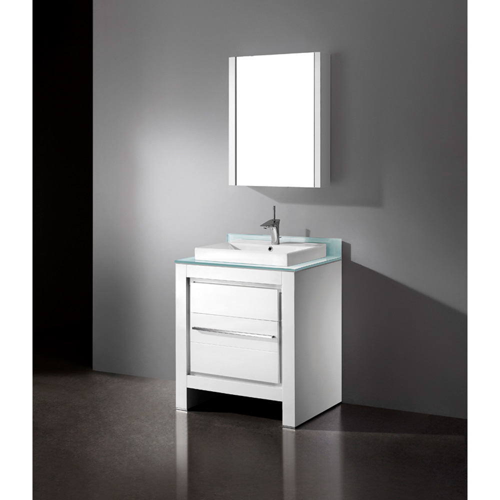 Madeli Vicenza 30 Quot Bathroom Vanity Glossy White Free