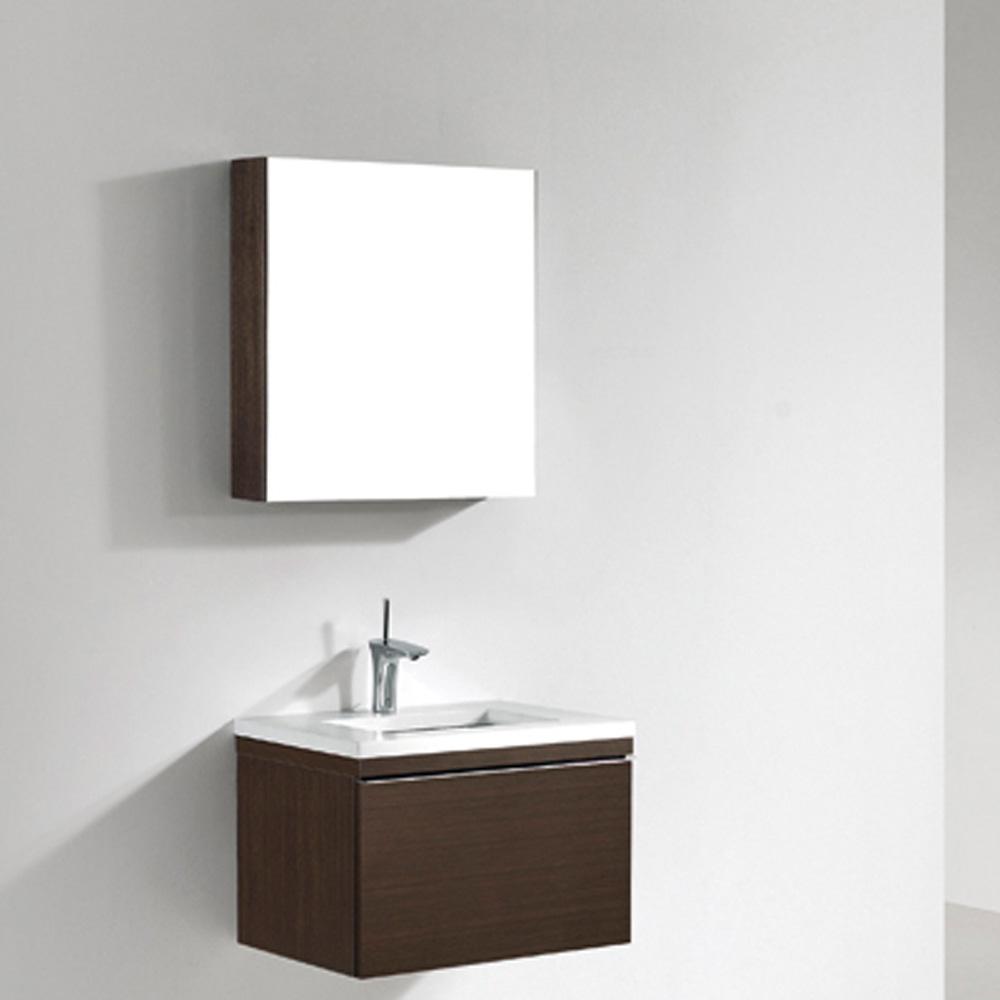 """Madeli Venasca 24"""" Bathroom Vanity with Quartzstone Top, Walnut B990-24-002-WA-QUARTZ by Madeli"""