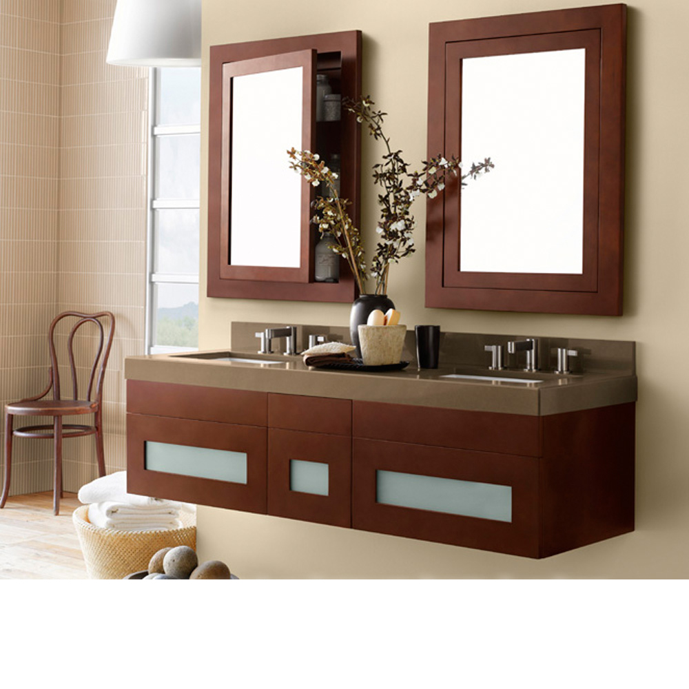 ronbow rebecca 58 double vanity undermount free shipping modern bathroom. Black Bedroom Furniture Sets. Home Design Ideas