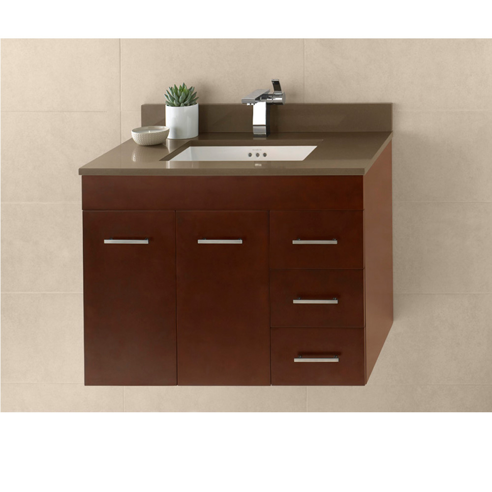 Ronbow Bella 31 Vanity Undermount Dark Cherry Free Shipping Modern Bathroom