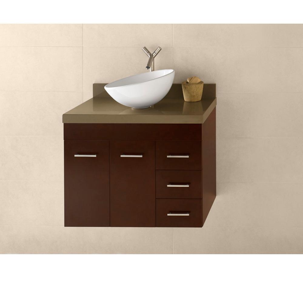 Ronbow bella 23 vanity vessel dark cherry free for Modern bathroom fittings