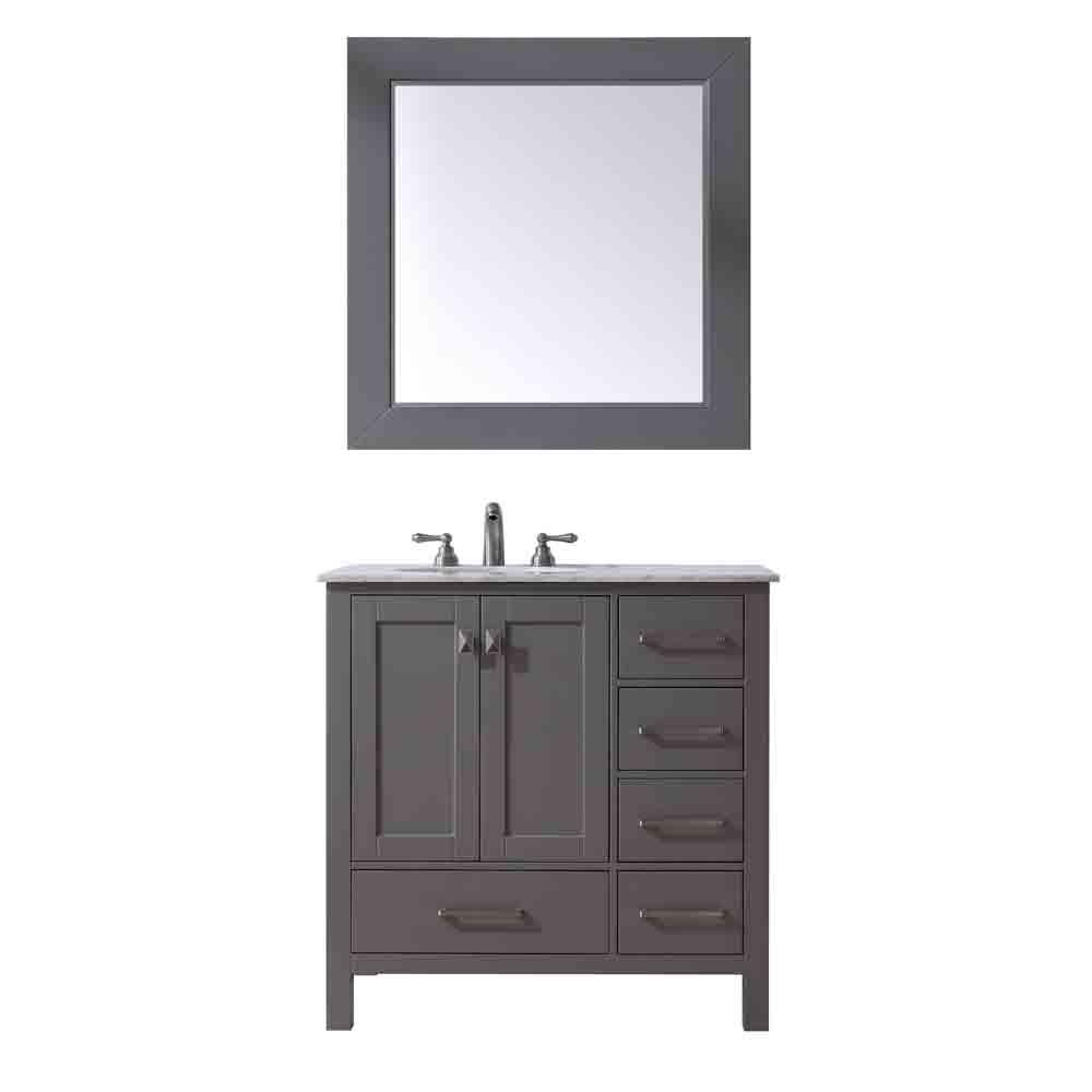 """Stufurhome 36"""" Lissa Single Sink Bathroom Vanity, Gray GM-6412-36-GRAY by Stufurhome"""