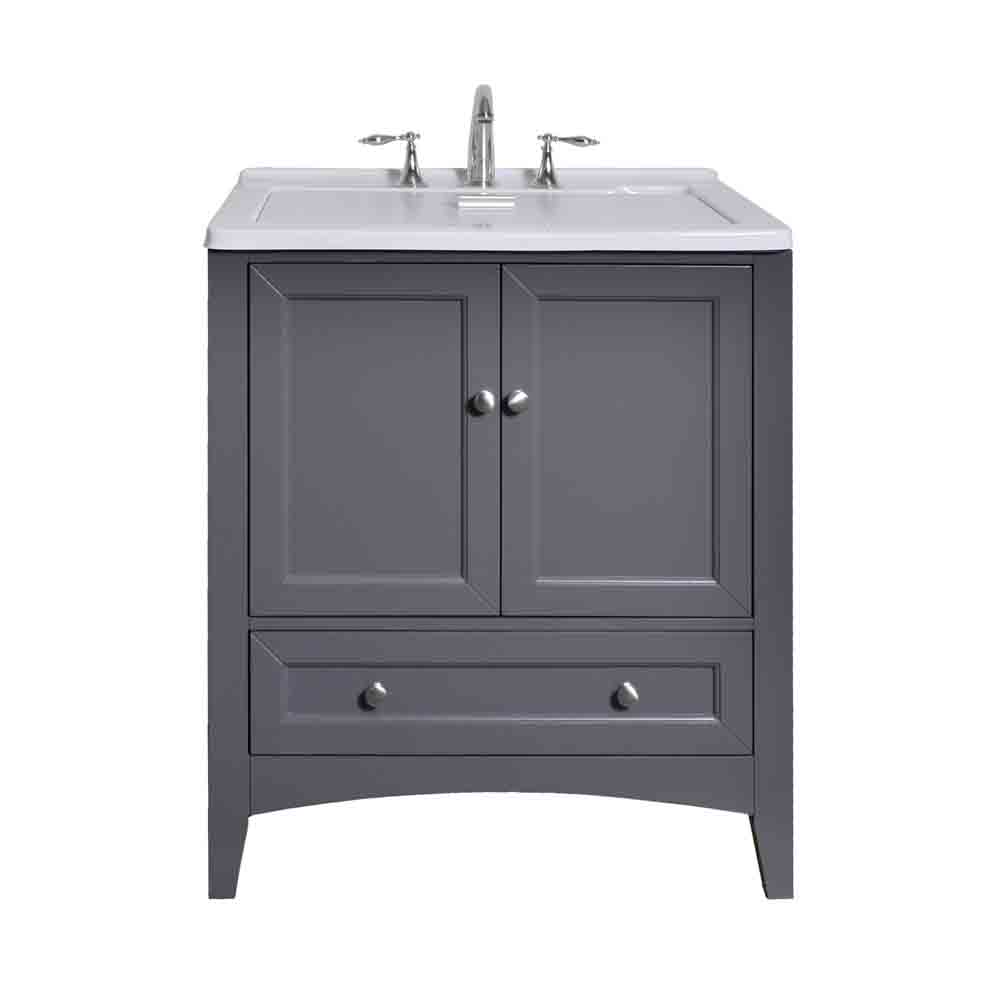 Stufurhome 30 5 Laundry Utility Sink Vanity Gray Free Shipping Modern Bathroom