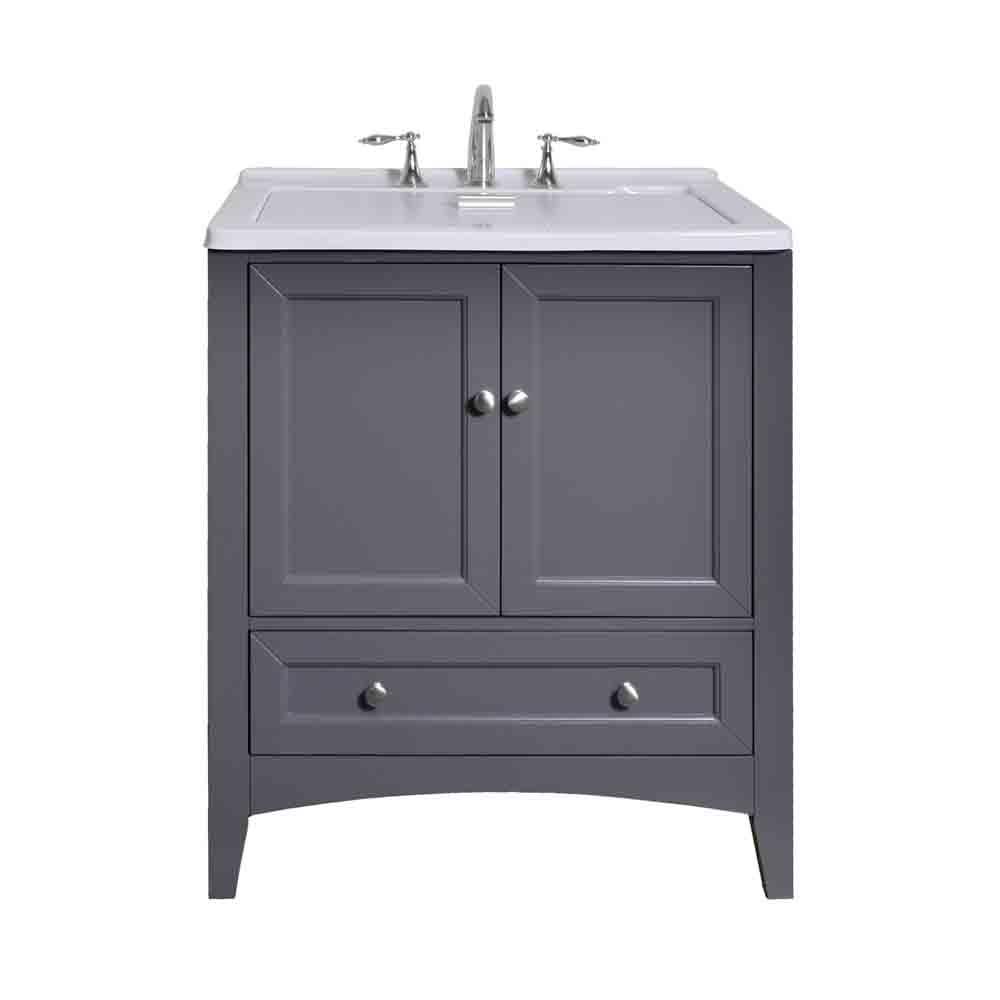 """Stufurhome 30.5"""" Laundry Utility Sink Vanity, Gray GM-Y01G by Stufurhome"""