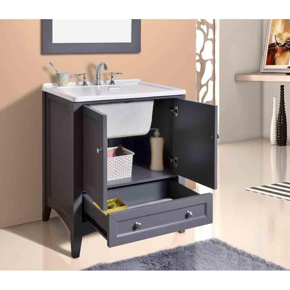 Stufurhome 30 5 Quot Laundry Utility Sink Vanity Gray Free