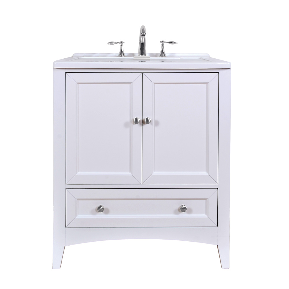 Stufurhome 30 5 Quot Laundry Utility Sink Vanity Pure White