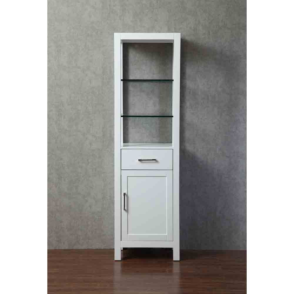 Stufurhome Gracie 20 Inch Linen Cabinet White Free Shipping Modern Bathroom