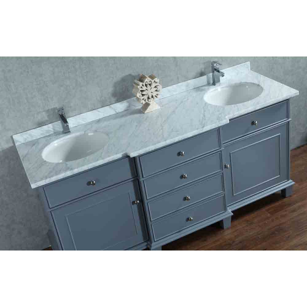 Stufurhome Cadence Grey 60 Quot Double Sink Bathroom Vanity With Mirror Grey Free Shipping