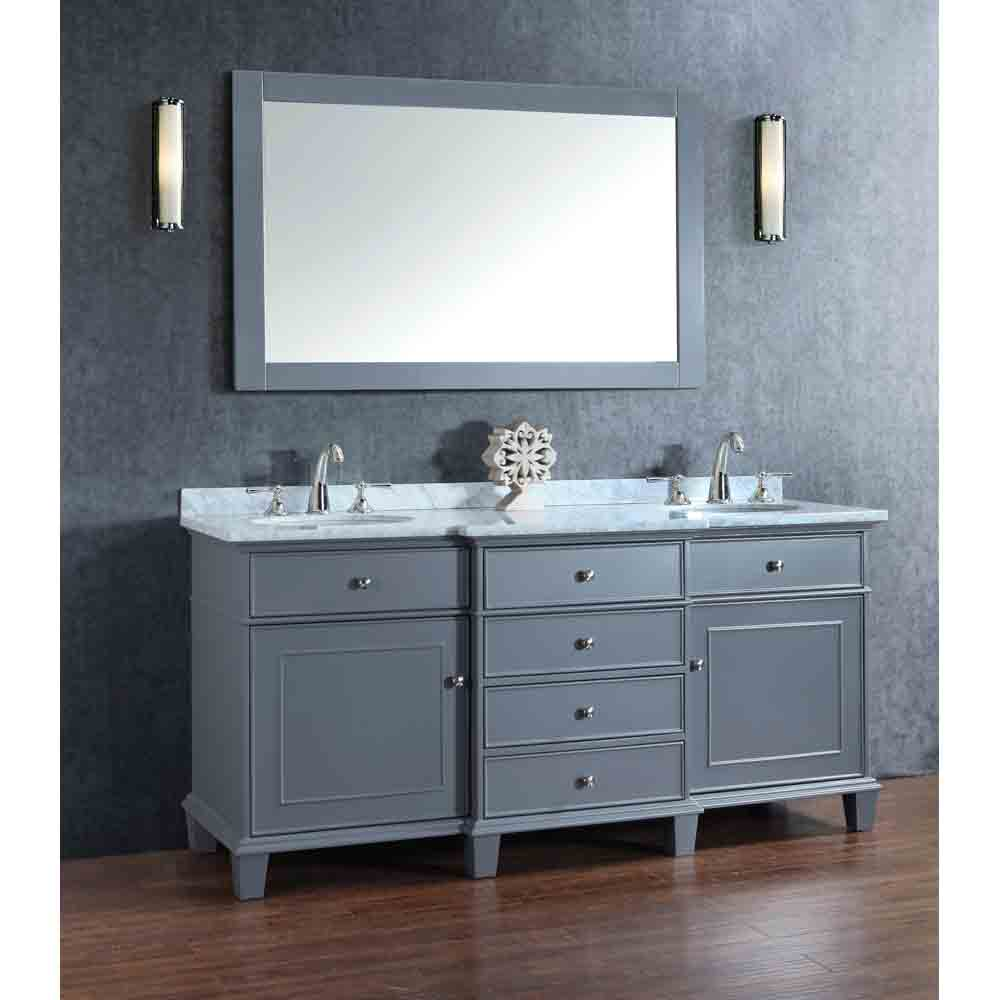 Stufurhome Cadence Grey 72 Quot Double Sink Bathroom Vanity