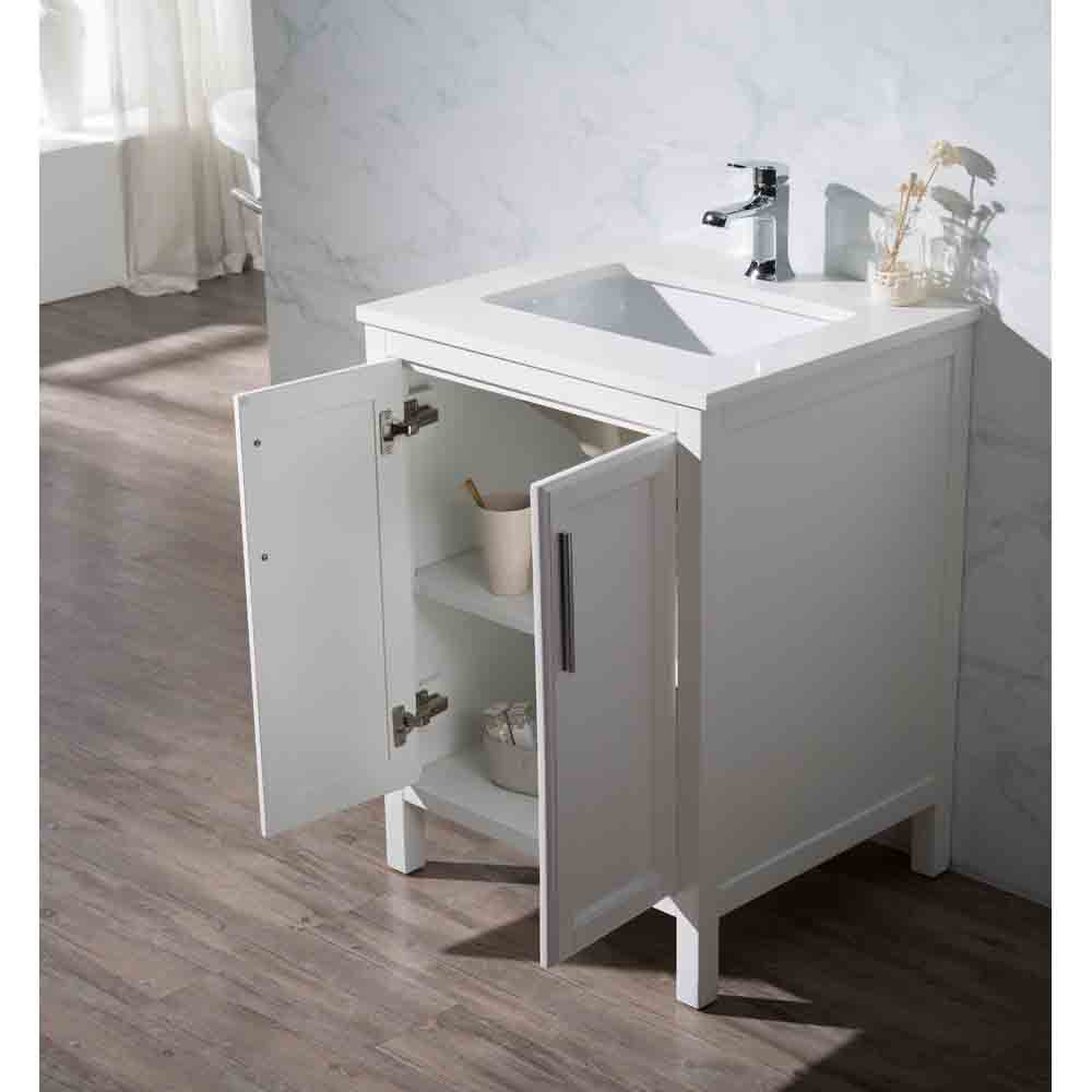 Stufurhome Emily 25 Quot Single Sink Bathroom Vanity With