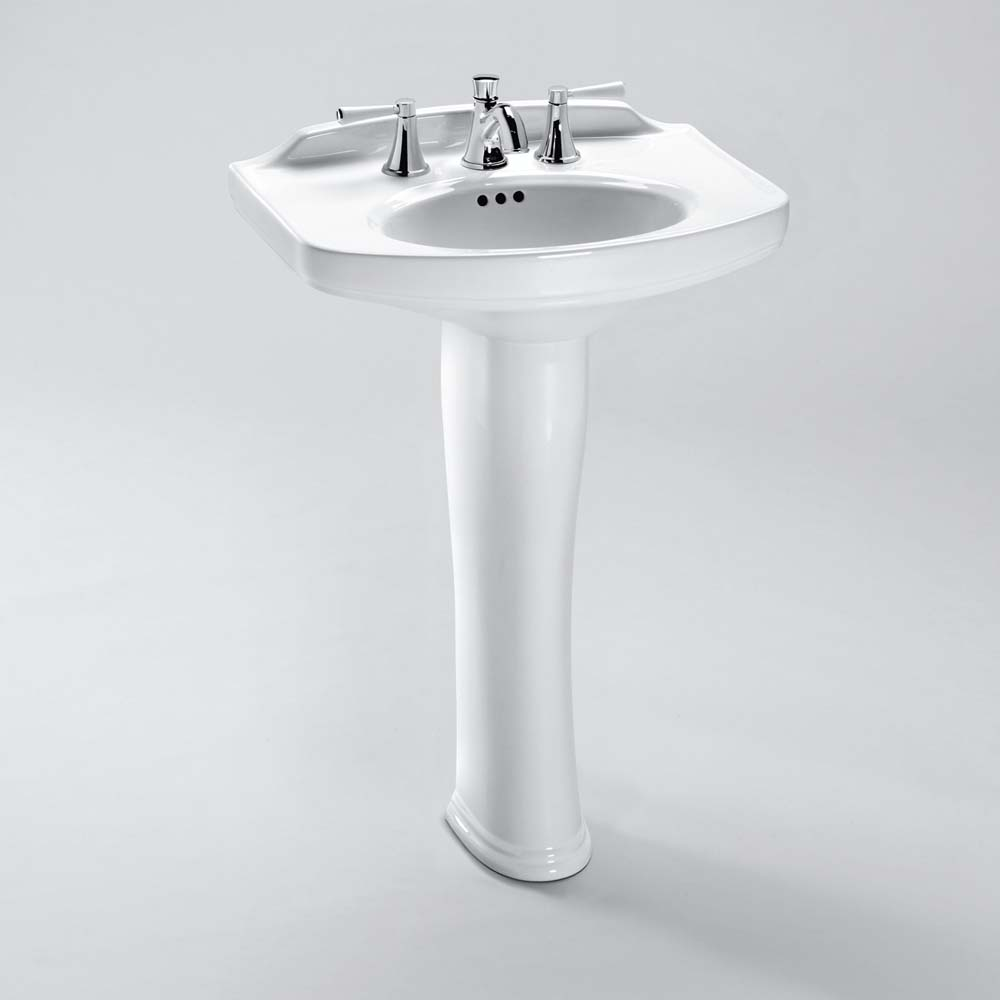 Widespread Bathroom Faucet >> TOTO Dartmouth® Pedestal Lavatory | Free Shipping - Modern Bathroom
