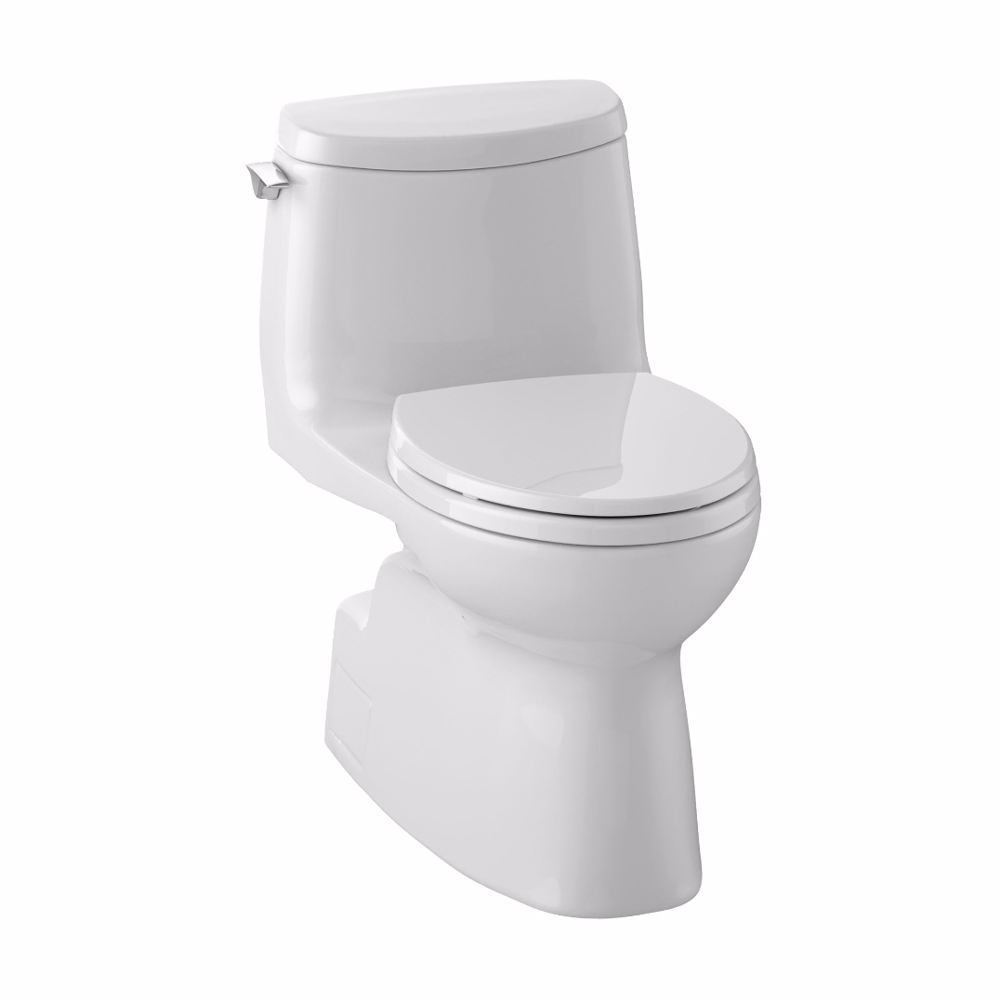 Toto Carlyle II 1G One-Piece Toilet with Elongated Bowl, 1.0 GPF, Seat Included MS614114CUFG.01 by Toto