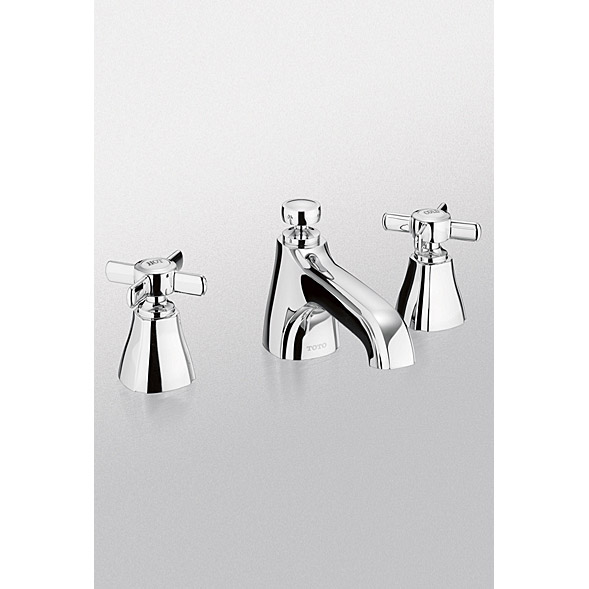 Toto Guinevere Cross Handle Widespread Lavatory Faucet Free Shipping Modern Bathroom