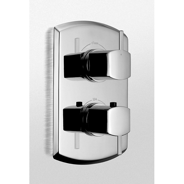 Toto Soire Thermostatic Mixing Valve Trim with Dual Volume Control and Lever Handles TS960D1.CP by Toto