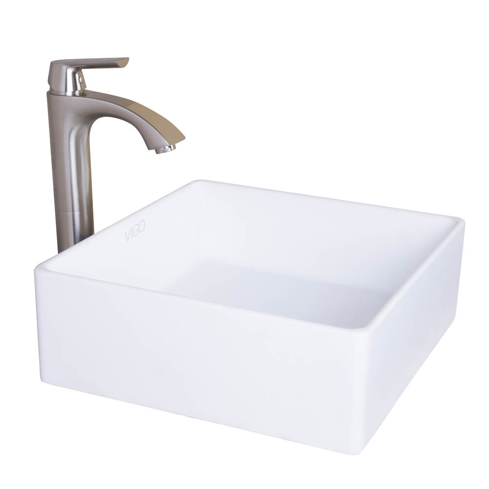 Vigo dianthus matte stone vessel bathroom sink free shipping modern bathroom - Vigo sink accessories ...