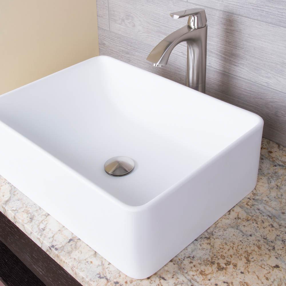 Vigo amaryllis matte stone vessel bathroom sink free - Bathroom vanity with vessel sink sale ...