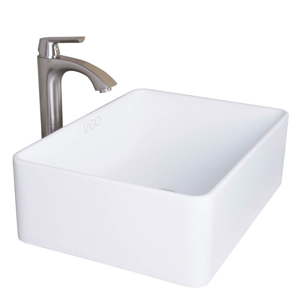 Vigo amaryllis matte stone vessel bathroom sink free shipping modern bathroom - Vigo sink accessories ...