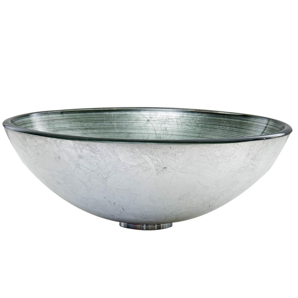 Vigo Simply Silver Glass Vessel Sink Free Shipping