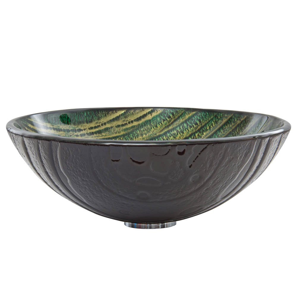 Vigo Green Asteroid Glass Vessel Sink Free Shipping Modern Bathroom