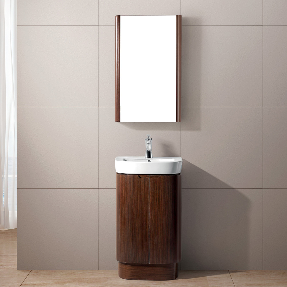 Vigo 20 Calantha Single Bathroom Vanity With Medicine Cabinet Wenge Free Shipping Modern