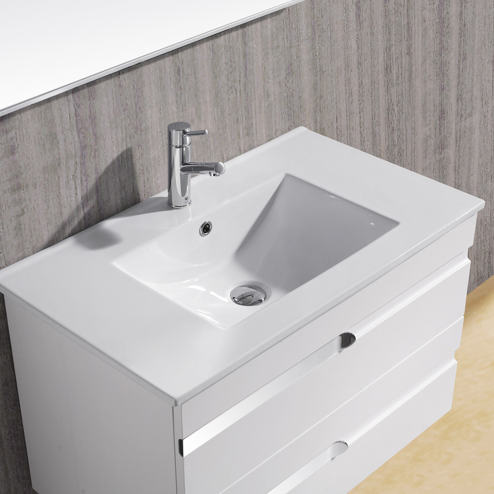 Vigo 32 Ethereal Petit Single Bathroom Vanity With Mirror White Gloss Free Shipping Modern Bathroom