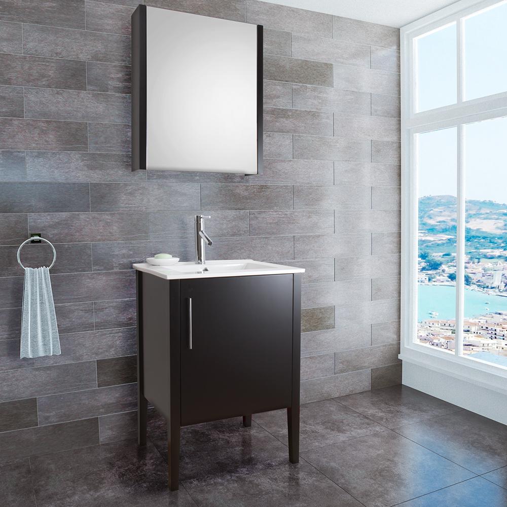 Vigo 24 Quot Maxine Single Bathroom Vanity With Medicine
