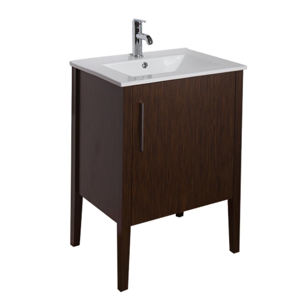 Vigo 24 Maxine Single Bathroom Vanity Wenge Free Shipping Modern Bathroom