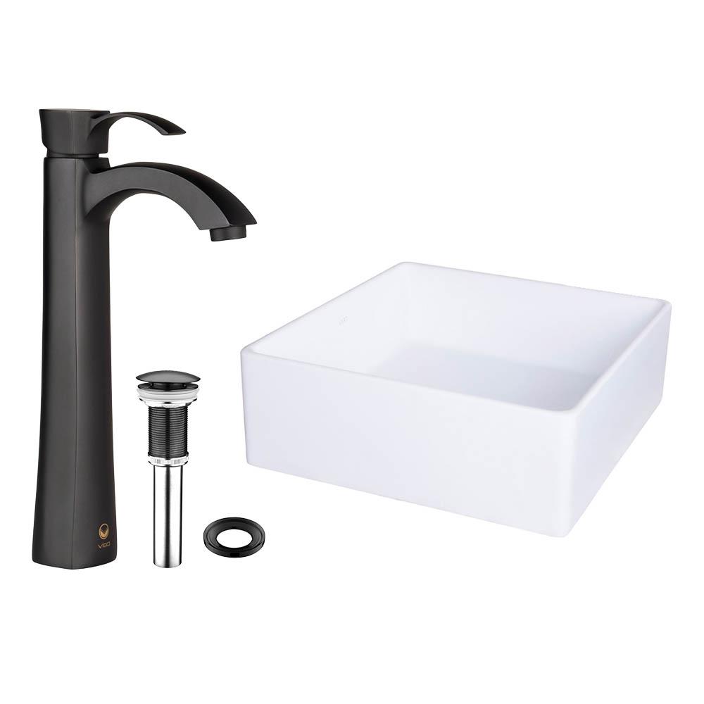 Vigo Bavaro Matte Stone Vessel Sink And Otis Bathroom