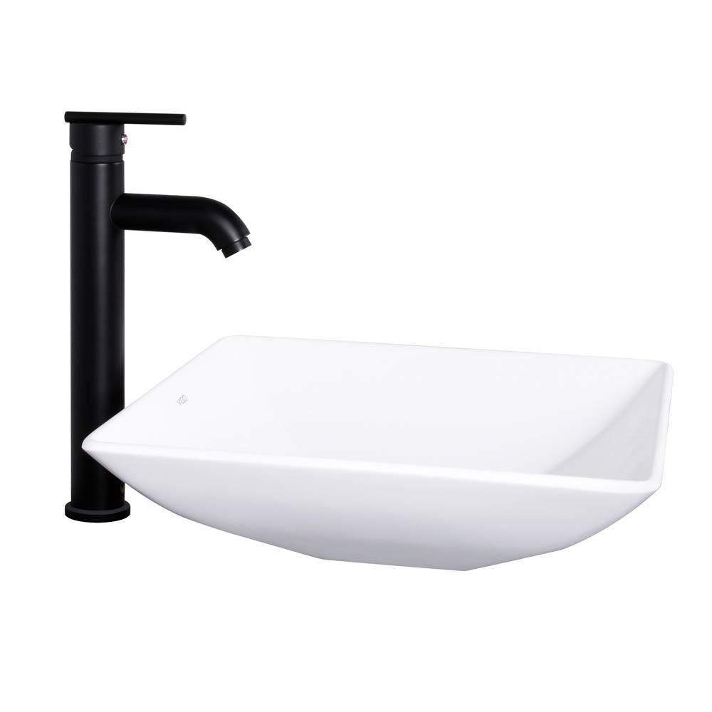 Vigo Matira Matte Stone Vessel Sink And Seville Bathroom