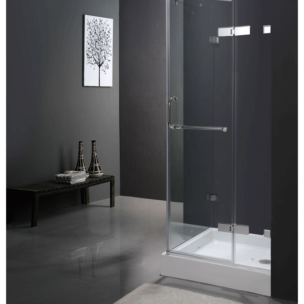 Vigo Industries Frameless Square Shower Enclosure - 36\